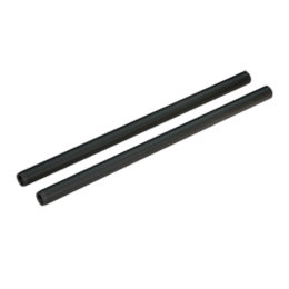 2x 15mm Aluminum Rod - 200mm Black