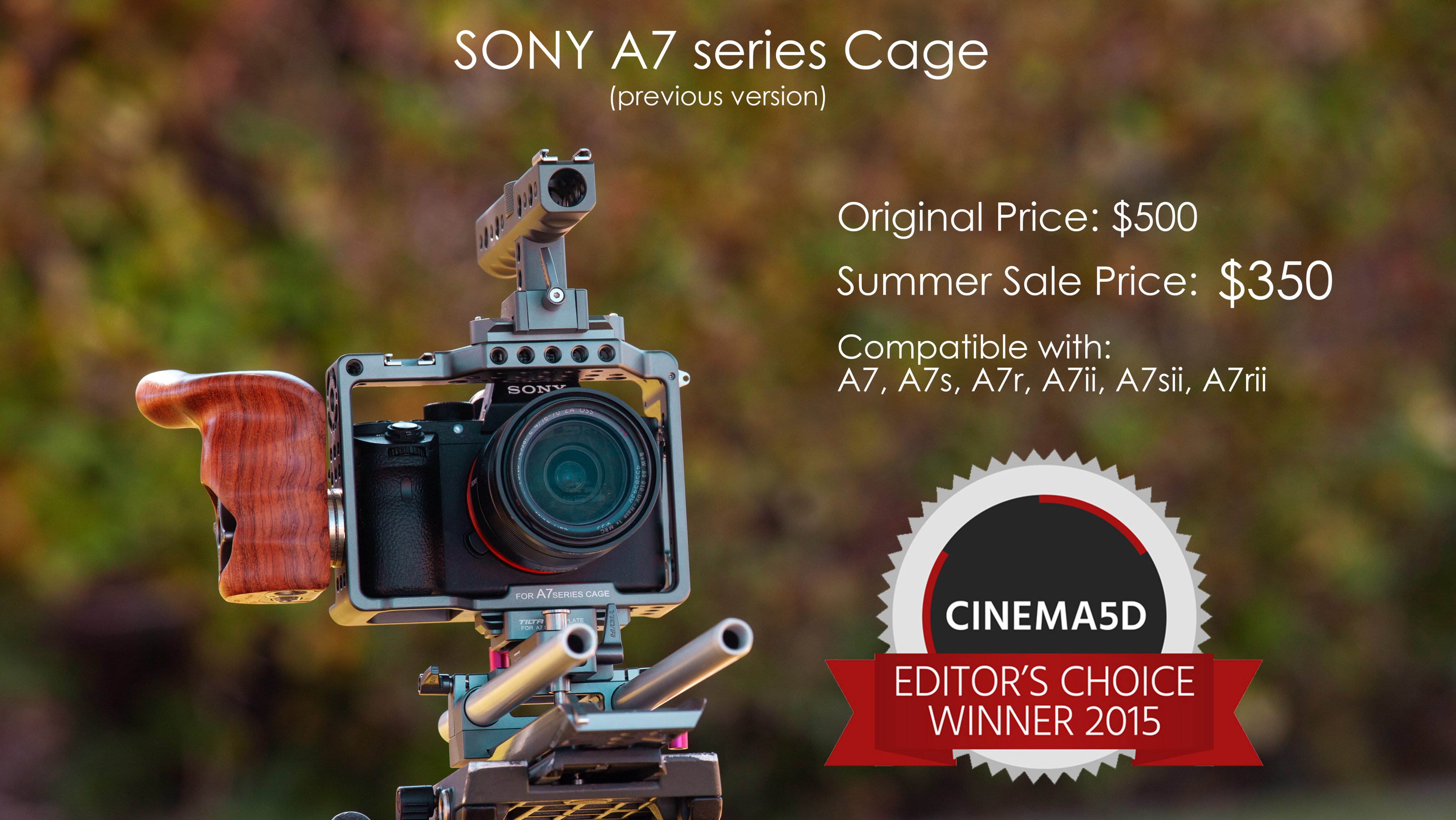 Camera Cage for Sony a7 Series (Previous Model) | Tilta
