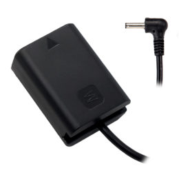 Sony NP-FW50 (A6/A7) Dummy Battery to 3.5/1.35mm DC Male Cable