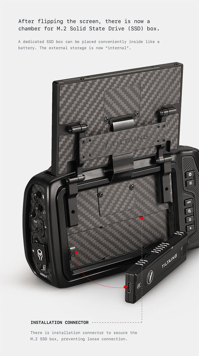 BMPCC 4K/6K Display Modification Kit