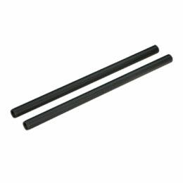 2 x 15mm Aluminum Rod - 200mm Black
