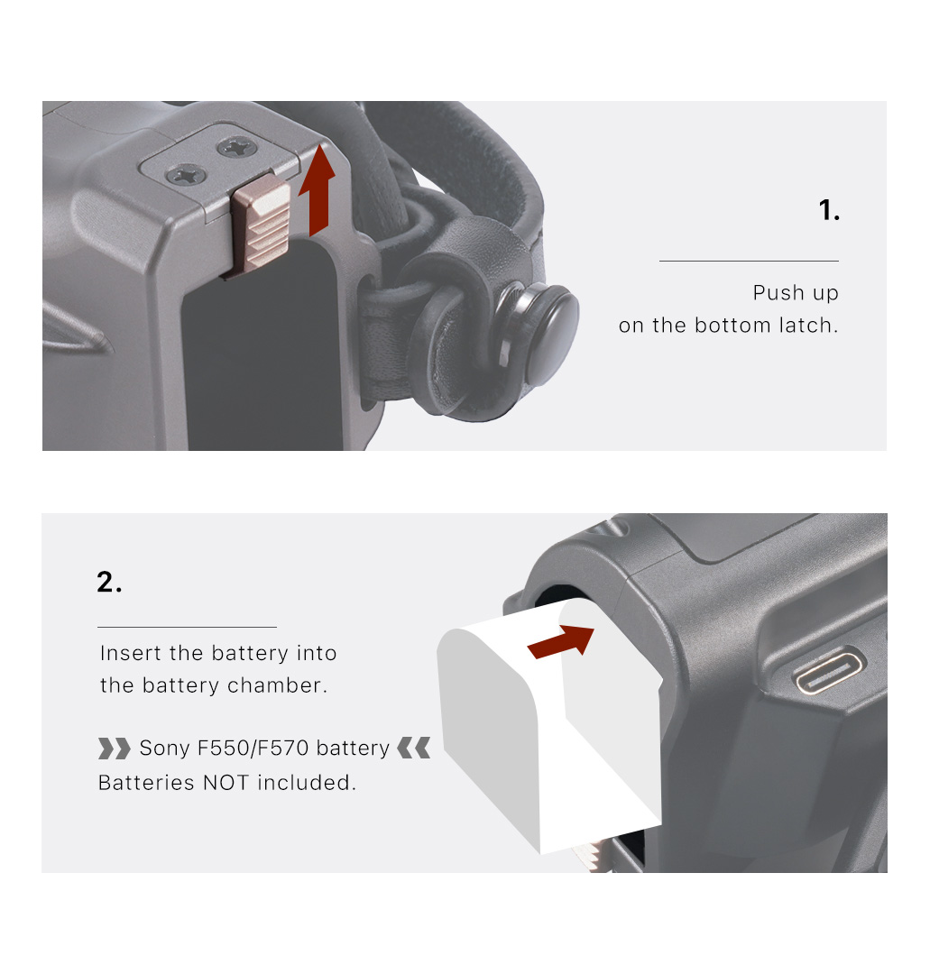 Tiltaing Right Side Advanced Focus Handle (F570 Battery)