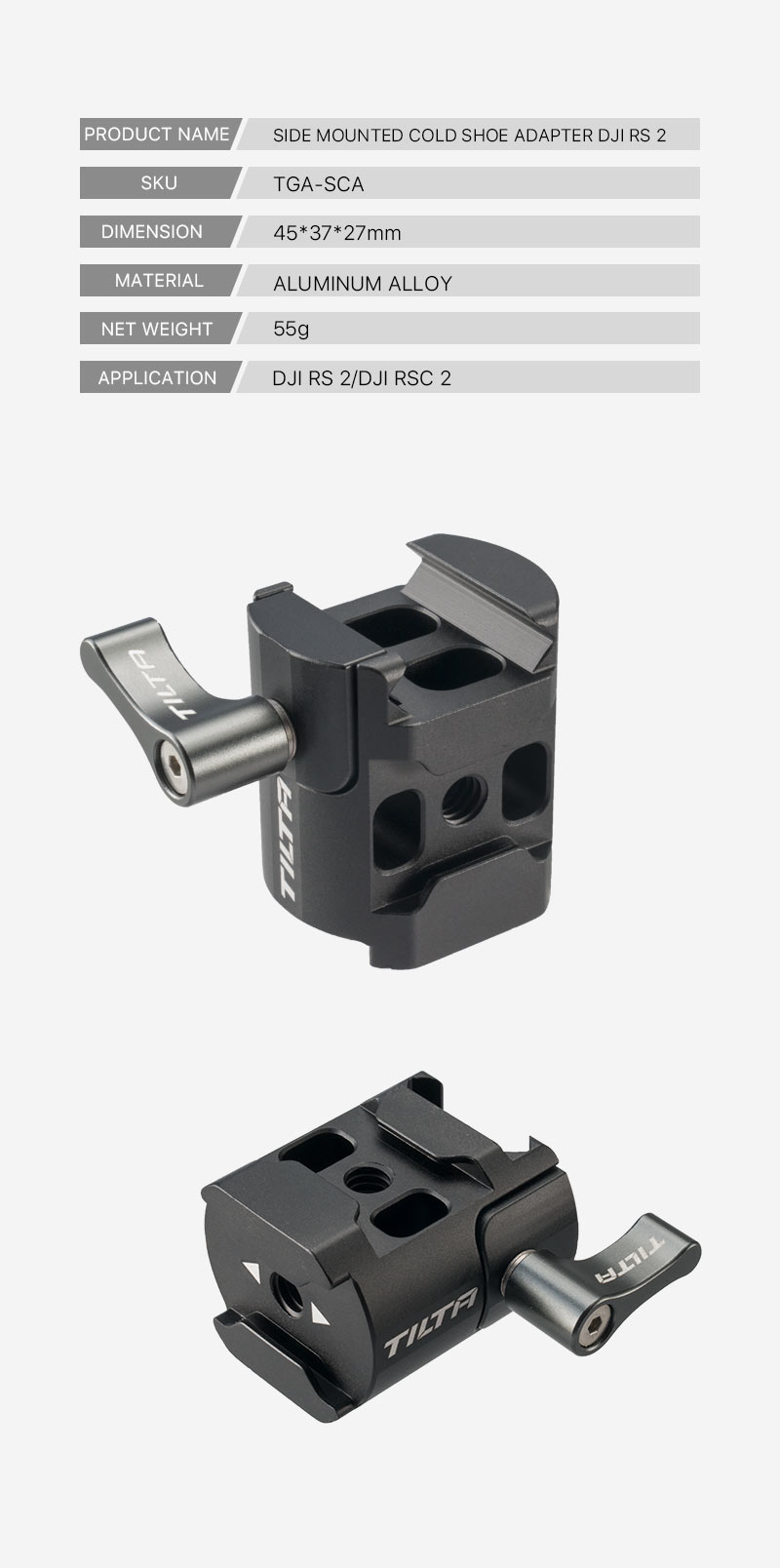 Side Mounted Cold Shoe Adapter