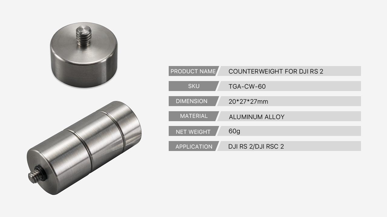 60g counterweight tech specs