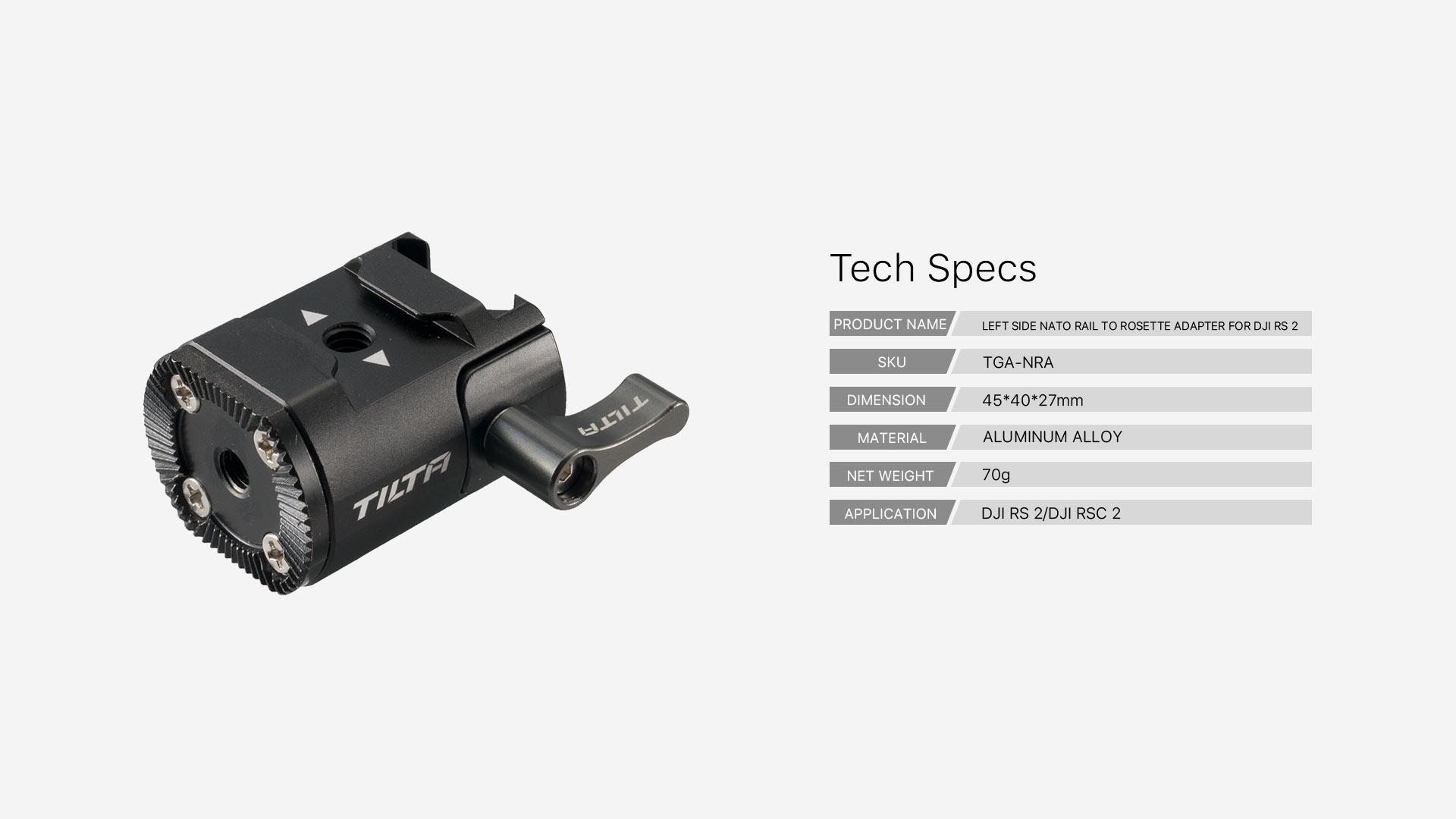 TGA-NRA tech specs