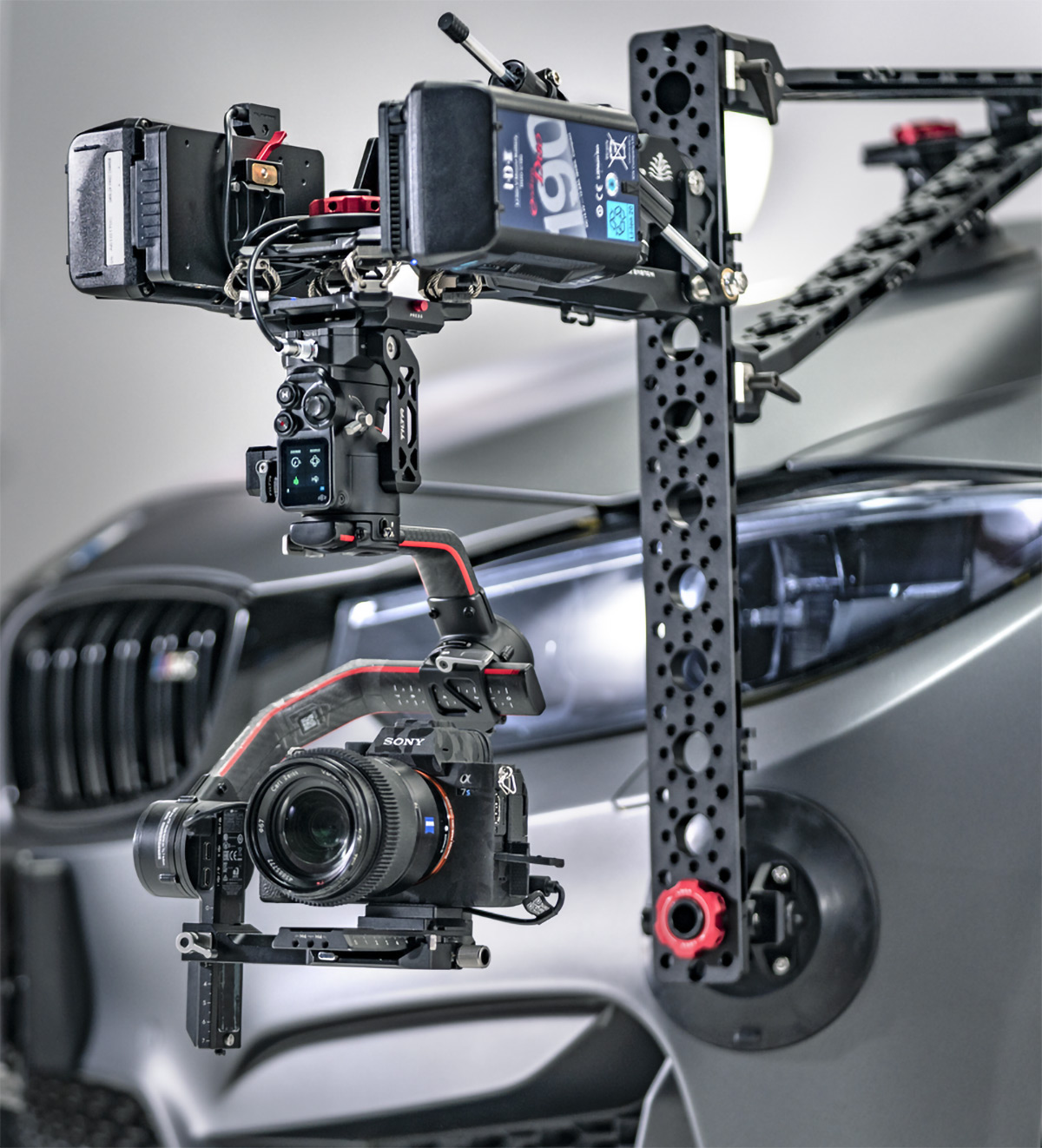 quick assembly mobile automobile gimbal camera mount