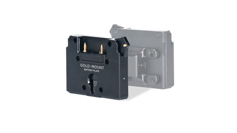 Gold Mount Battery Plate for Dual Handle Power Supply Bracket