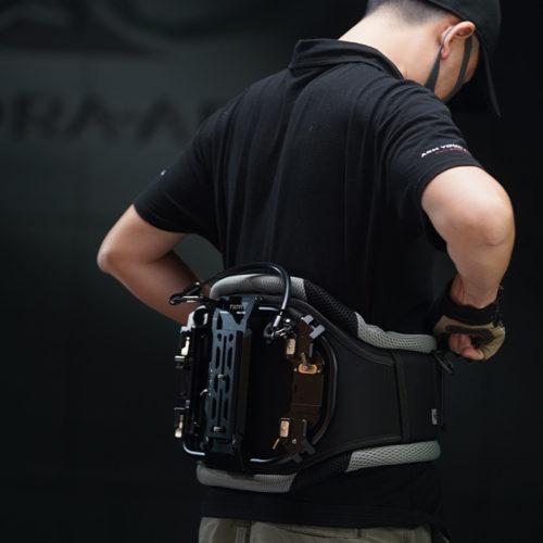 secure operation using back brace