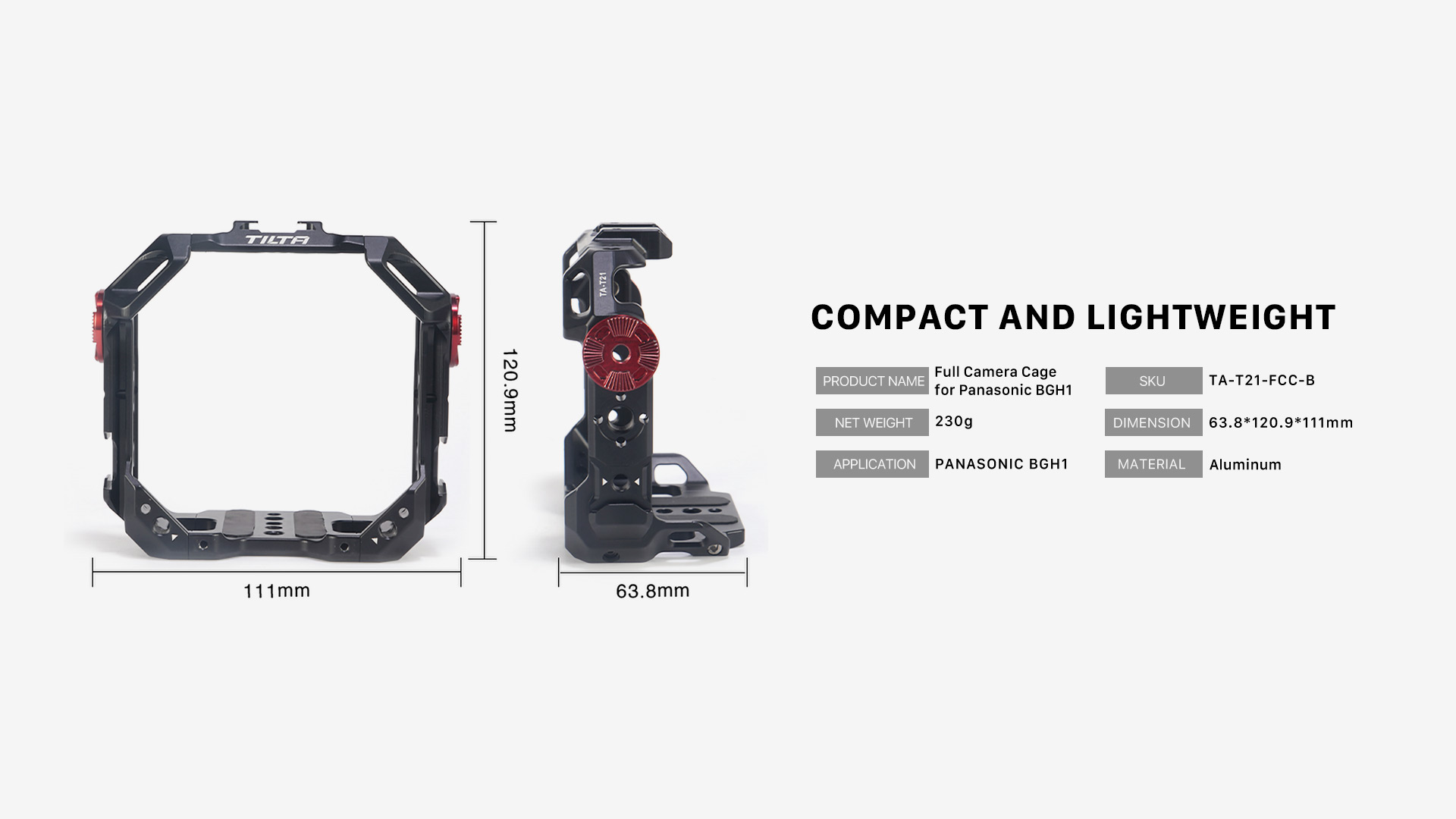 compact and lightweight TA-T21-FCC-B