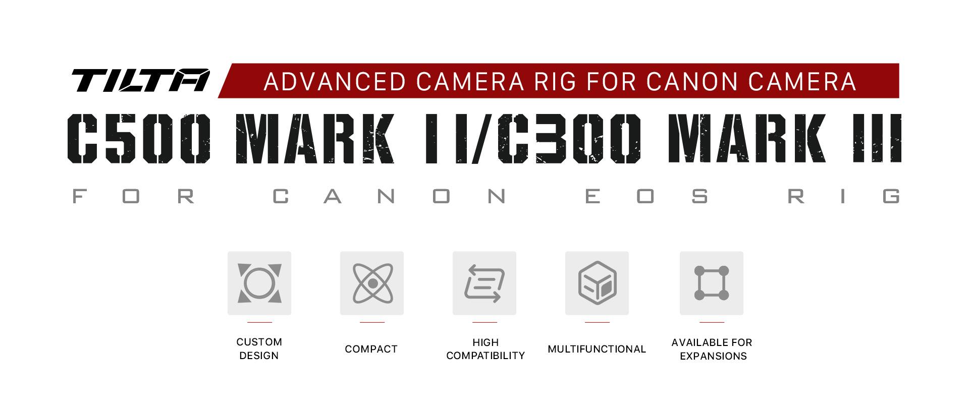 Camera Cage for Canon C500 Mk II/C300 Mk III