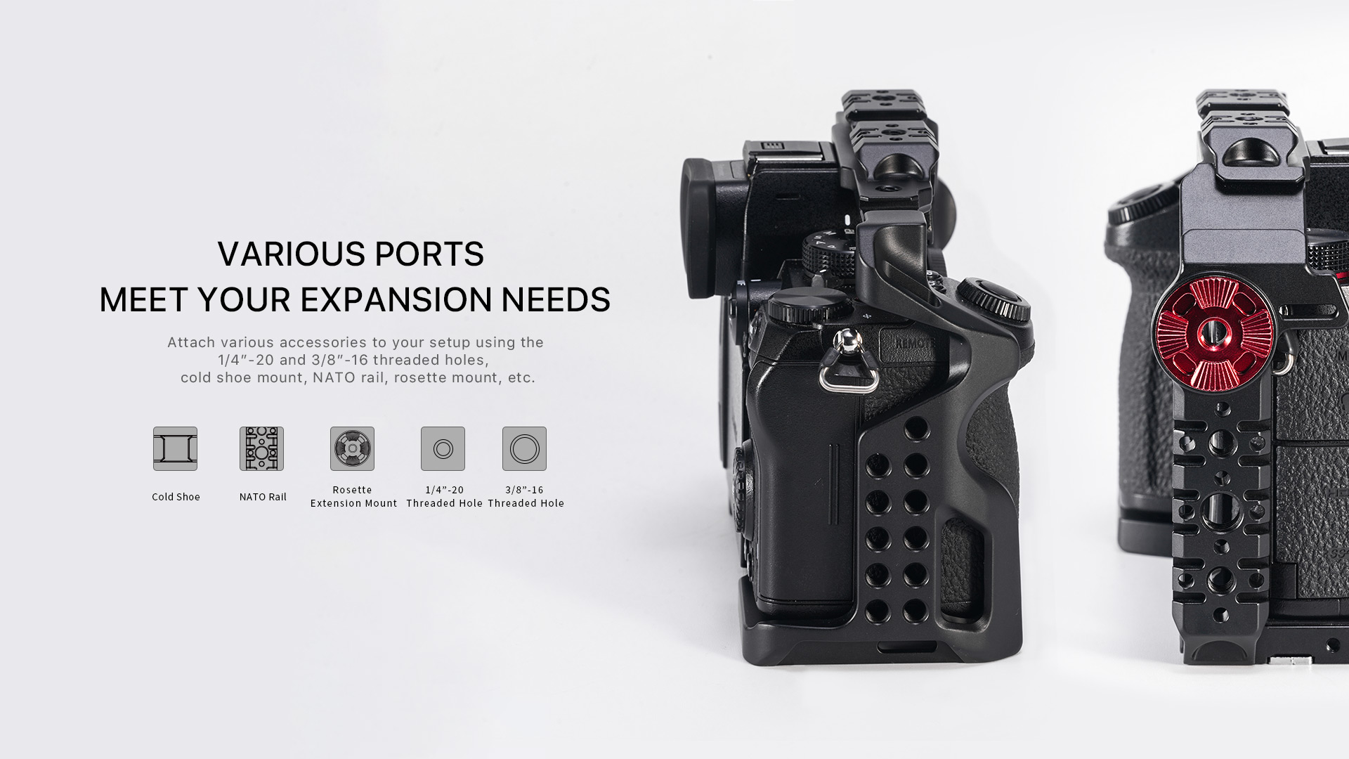 expansion ports for panasonic lumix s5 cage