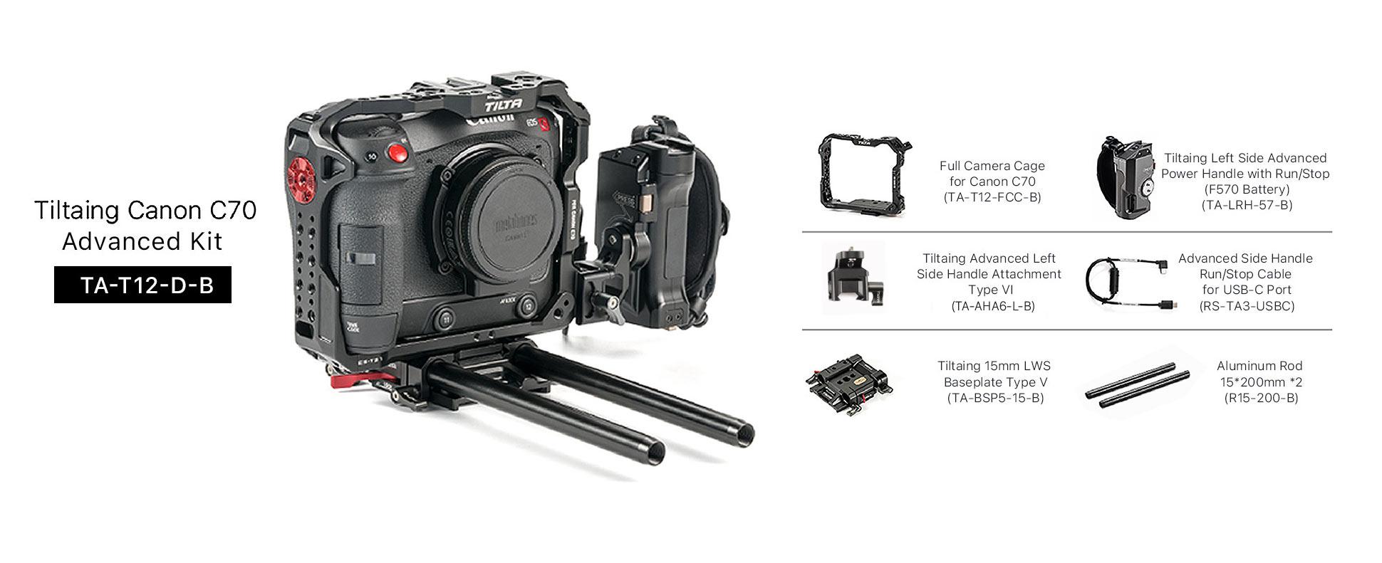 Tiltaing Canon C70 Advanced Kit - Black